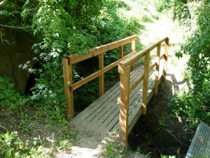 Repair bridge rails by the river for Asenby Parish Council