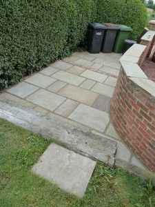 New patio made with Indian stone