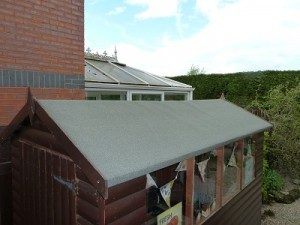 Re-felting shed roof